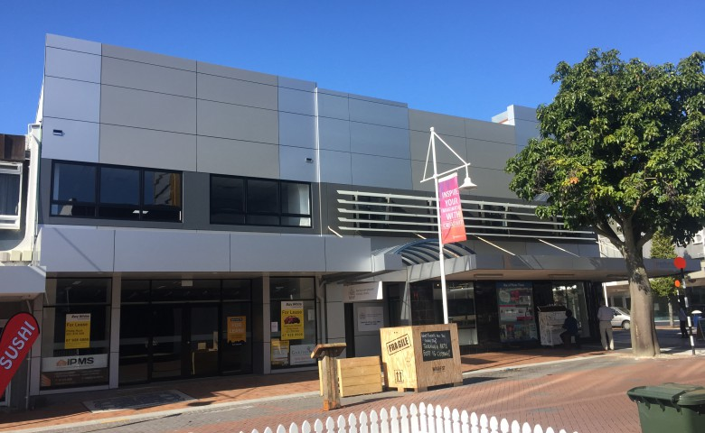 warf street tauranga finished road frontage matching existing buildings