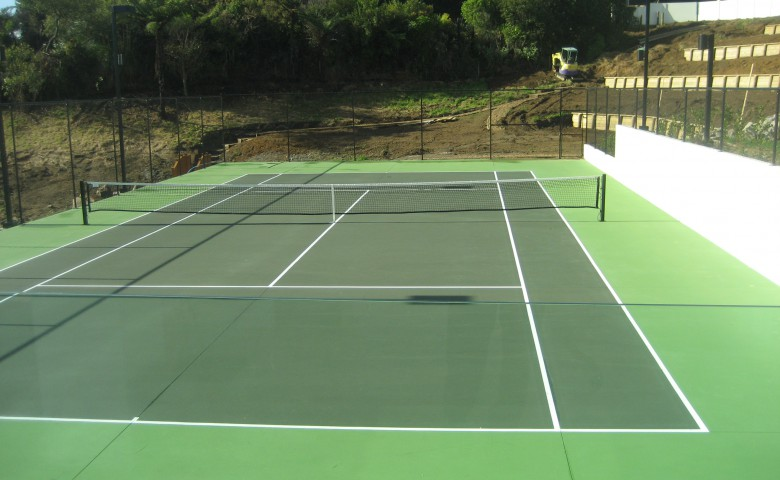 Compliance and Completion of New Dwelling tennis court