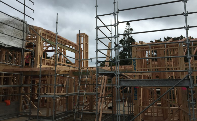High-end Residential Build – Bay of Plenty framing