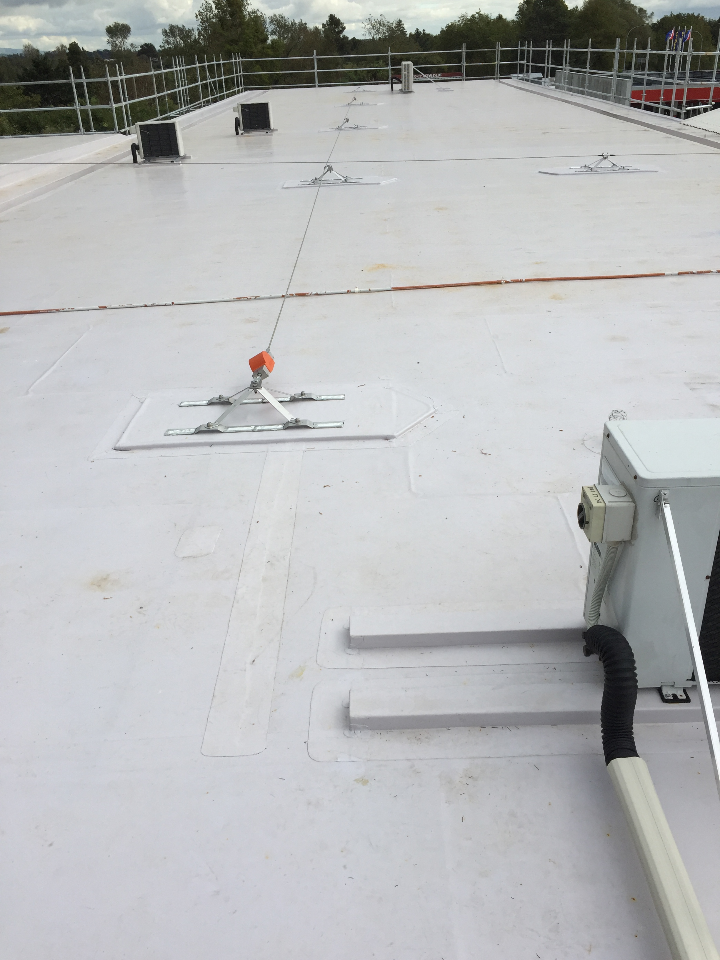 West - Height safety restraint system installed