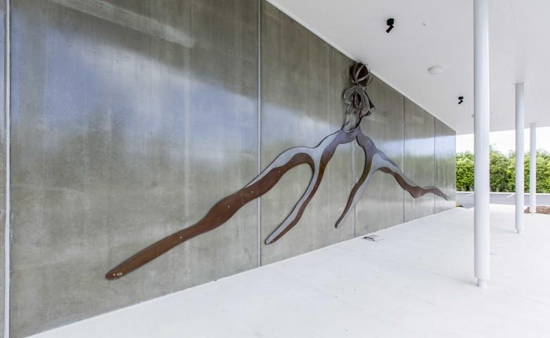 Te Aroha Event Centre outdoor art piece