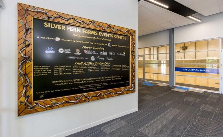 Te Aroha Event Centre sign