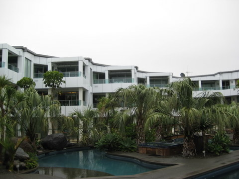 Cutters cove resort external view with swimming pool