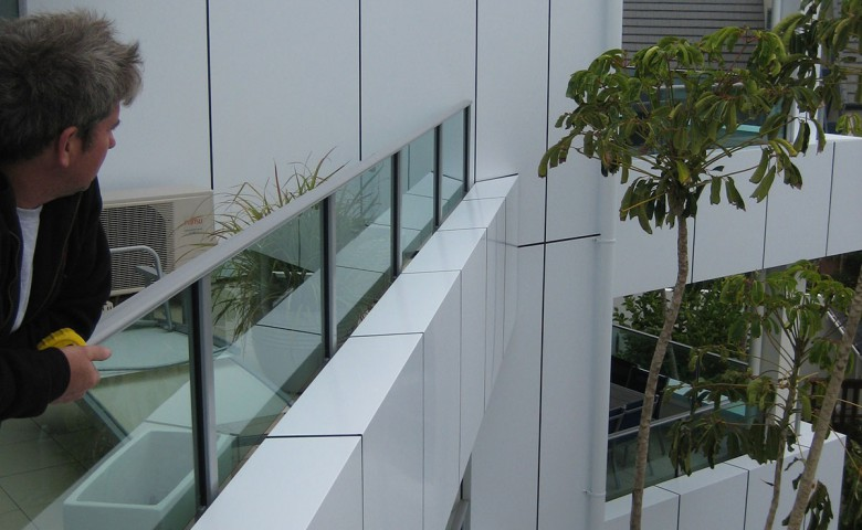 IPMS project manager looking out admiring completed cutters cove