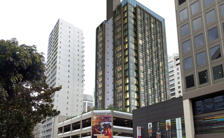 City Gardens Apartment Building External View in Central Auckland